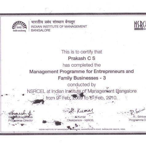IIMB Certificate